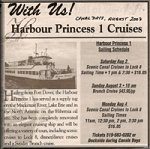 Harbour Princess Cruises ad from Port Colborne Canal Days, August 2003
