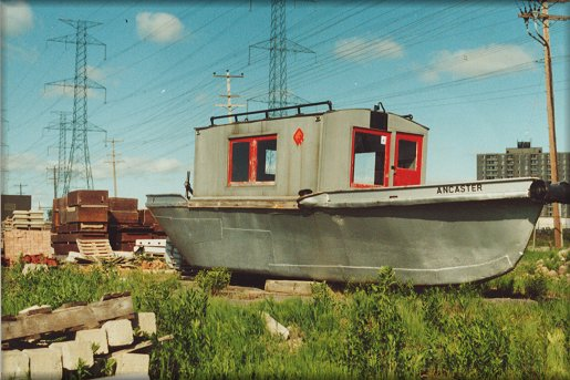 The Ancaster sits in the Ottawa Hydro yard c. 1985