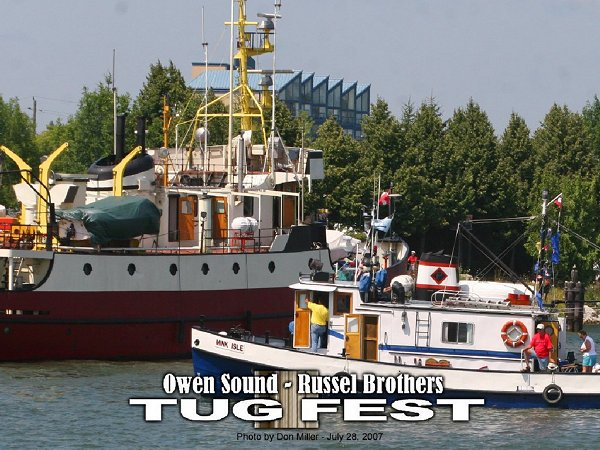 Click photo to view photos from July 28, 2007 at<br>Owen Sound - Russel Brothers Tugfest.